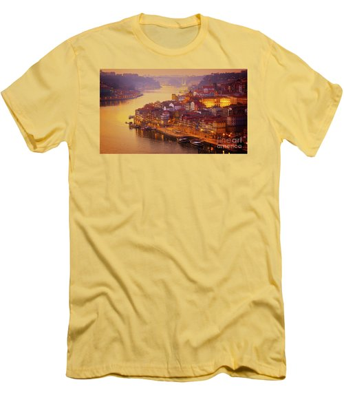 Pink Sunset In Porto Men's T-Shirt (Athletic Fit)