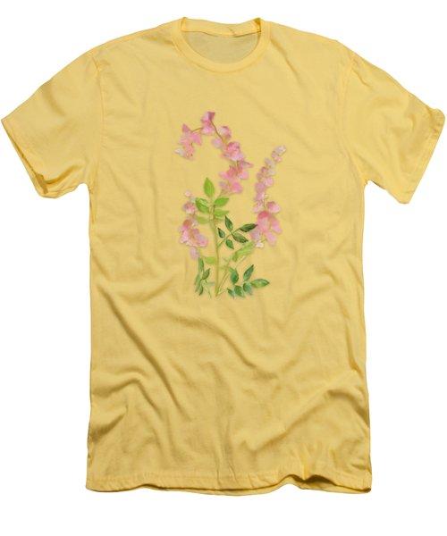 Pink Tiny Flowers Men's T-Shirt (Slim Fit) by Ivana Westin
