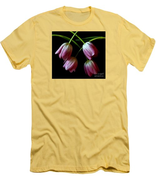 Pink Tulip Weave Men's T-Shirt (Slim Fit)