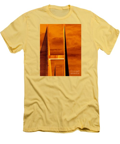 Men's T-Shirt (Slim Fit) featuring the photograph Pinnacle by Cathy Dee Janes
