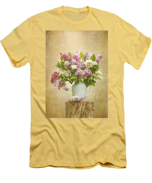 Pitcher Of Lilacs Men's T-Shirt (Slim Fit) by Patti Deters