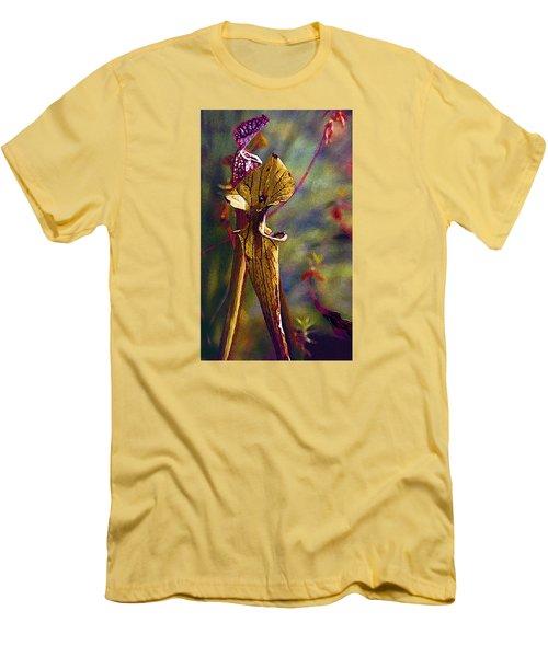 Pitcher Plant Men's T-Shirt (Slim Fit) by Janis Nussbaum Senungetuk