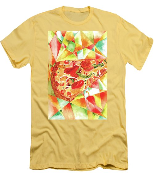 Pizza Pizza Men's T-Shirt (Slim Fit) by Paula Ayers