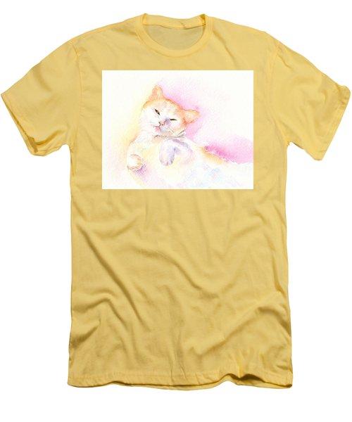 Playful Cat II Men's T-Shirt (Slim Fit) by Elizabeth Lock