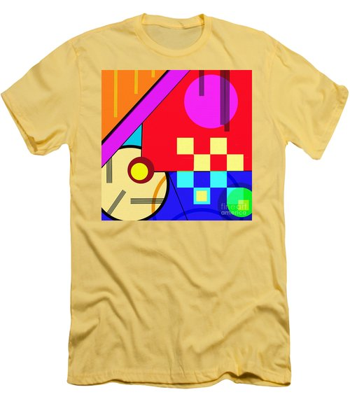 Men's T-Shirt (Athletic Fit) featuring the digital art Playful by Silvia Ganora