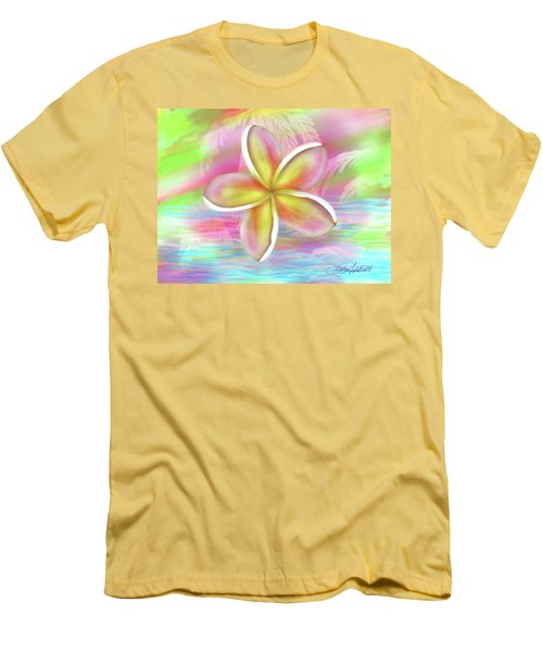 Plumeria Paradise Men's T-Shirt (Athletic Fit)