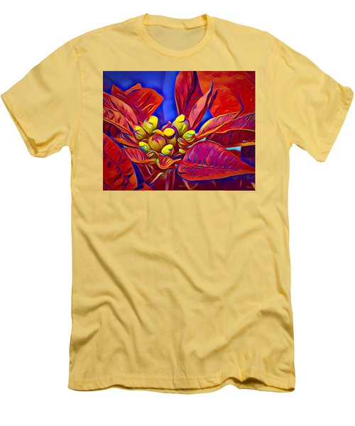 Poinsettia Closeup Men's T-Shirt (Athletic Fit)