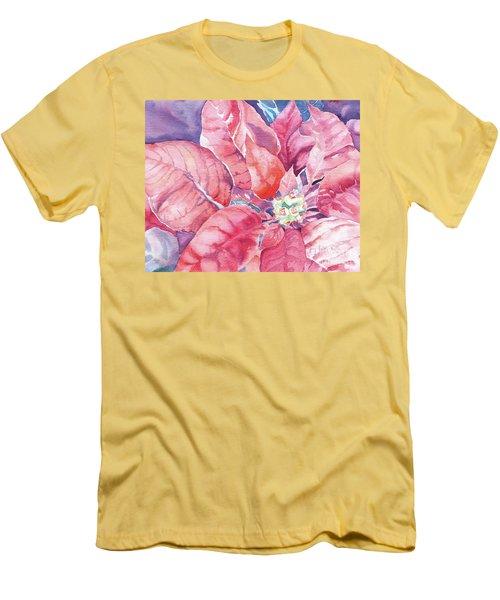 Poinsettia Glory Men's T-Shirt (Athletic Fit)