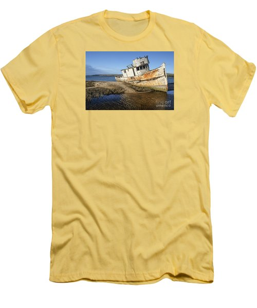 Point Reyes Shipwreck Men's T-Shirt (Slim Fit) by Amy Fearn