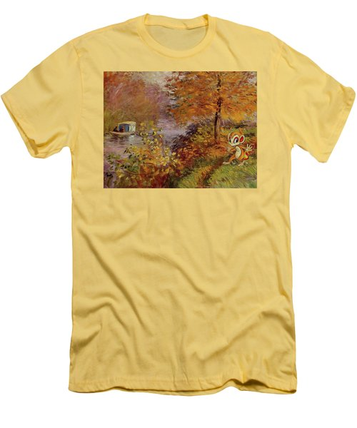 Men's T-Shirt (Slim Fit) featuring the digital art Pokemonet by Greg Sharpe