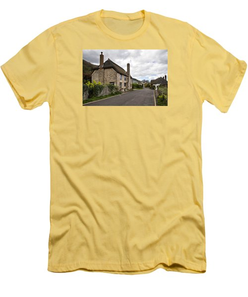 Men's T-Shirt (Slim Fit) featuring the photograph Porlock Weir by Shirley Mitchell