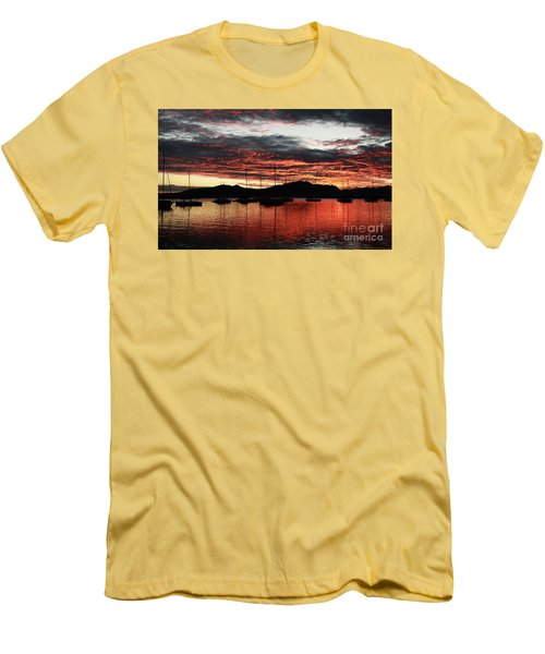 Port Denarau Fiji At Sunrise Men's T-Shirt (Athletic Fit)