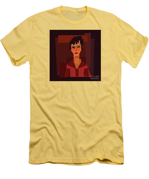Portait Of Young Woman  Men's T-Shirt (Athletic Fit)