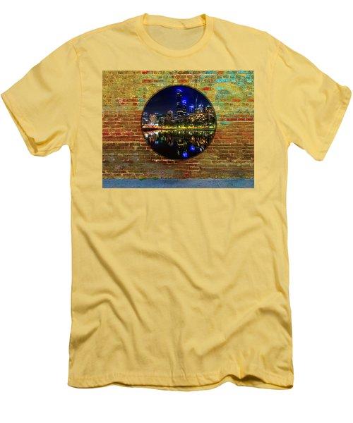 Portal Men's T-Shirt (Slim Fit) by Mark Blauhoefer