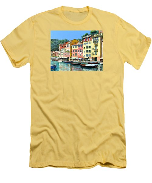 Portofino Sunshine 30 X 40 Men's T-Shirt (Slim Fit) by Michael Swanson