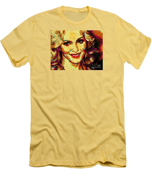Portrait Of Madonna Men's T-Shirt (Slim Fit) by Zedi