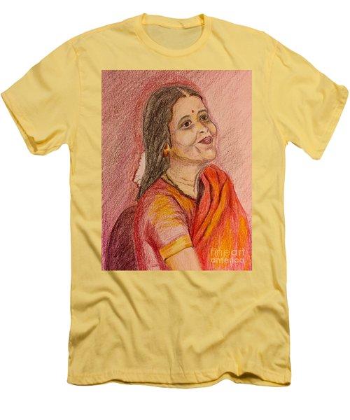 Portrait With Colorpencils Men's T-Shirt (Athletic Fit)