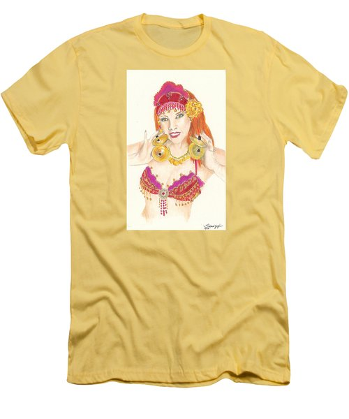 Portrait Of The Artist Playing Zills -- Belly Dancer Self-portrait Men's T-Shirt (Athletic Fit)