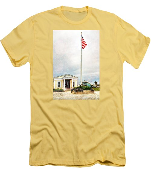 Post Office In Seaside Florida Men's T-Shirt (Athletic Fit)