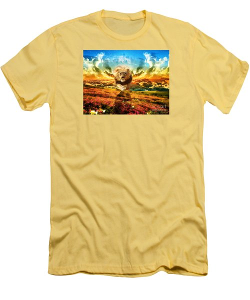 Power And Glory Men's T-Shirt (Slim Fit) by Dolores Develde