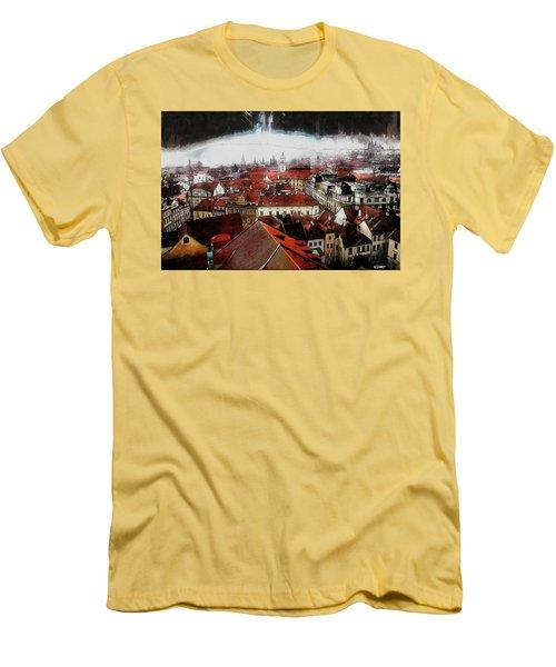 Prague Skyline Men's T-Shirt (Athletic Fit)