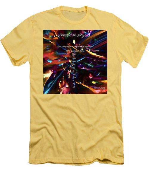 Men's T-Shirt (Athletic Fit) featuring the digital art Prayer Of An Artist by Margie Chapman