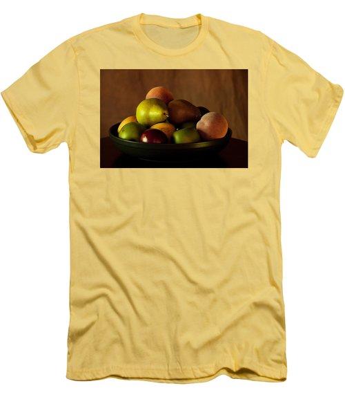 Precious Fruit Bowl Men's T-Shirt (Slim Fit) by Sherry Hallemeier
