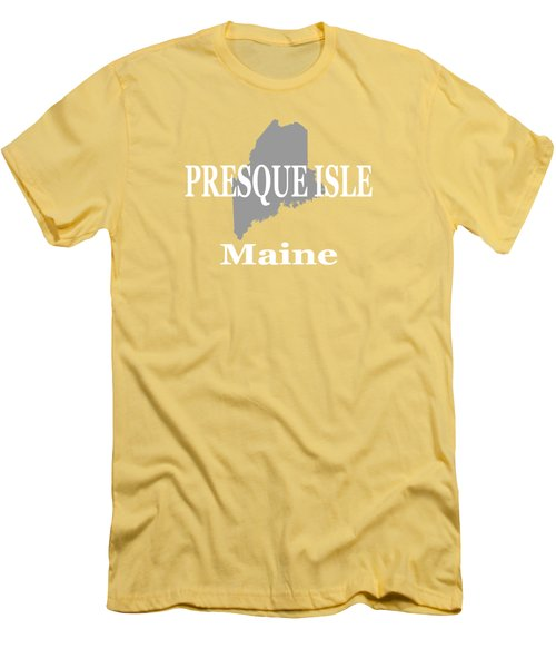 Men's T-Shirt (Slim Fit) featuring the photograph Presque Isle Maine State City And Town Pride  by Keith Webber Jr