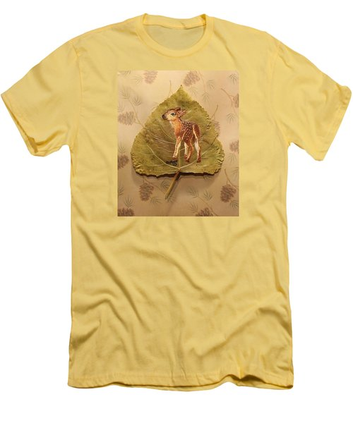 Pretty Baby Deer Men's T-Shirt (Athletic Fit)