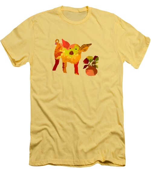 Pretty Pig Men's T-Shirt (Slim Fit) by Holly McGee