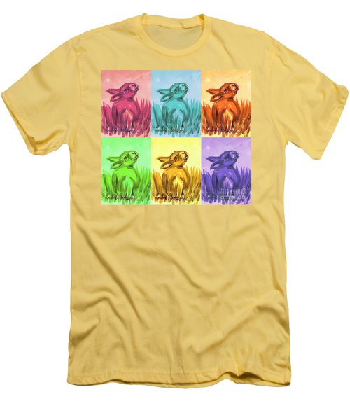 Primary Bunnies Men's T-Shirt (Athletic Fit)