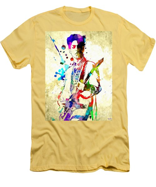 Prince In Concert Men's T-Shirt (Slim Fit) by Daniel Janda