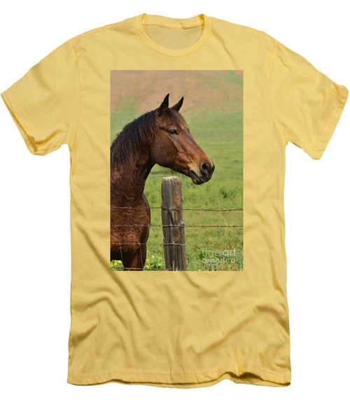 Men's T-Shirt (Slim Fit) featuring the photograph Profile Of A Bay by Debby Pueschel