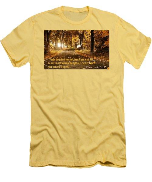 Proverbs104 Men's T-Shirt (Slim Fit) by David Norman