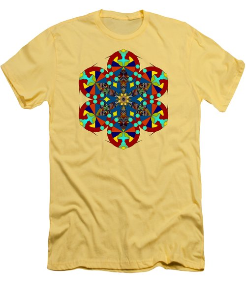 Psychedelic Mandala 007 A Men's T-Shirt (Athletic Fit)