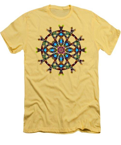 Psychedelic Mandala 010 A Men's T-Shirt (Slim Fit) by Larry Capra