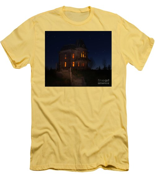 Psycho House-bates Motel Men's T-Shirt (Slim Fit) by Jim  Hatch