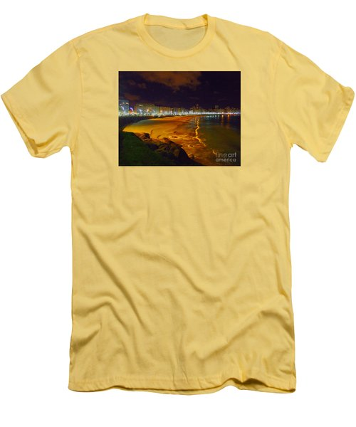 Puerto Rico Beach Men's T-Shirt (Slim Fit) by Andrew Middleton