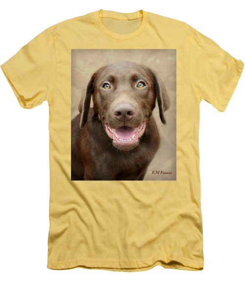 Puppy Power Men's T-Shirt (Slim Fit) by Kathy M Krause