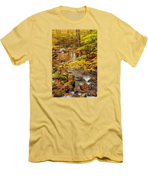 Men's T-Shirt (Slim Fit) featuring the photograph Pure Gold by Debbie Green