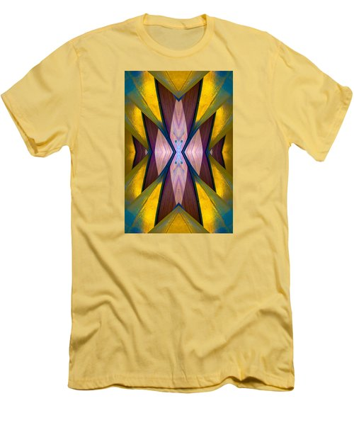 Pure Gold Lincoln Park Wood Pavilion N89 V1 Men's T-Shirt (Slim Fit) by Raymond Kunst