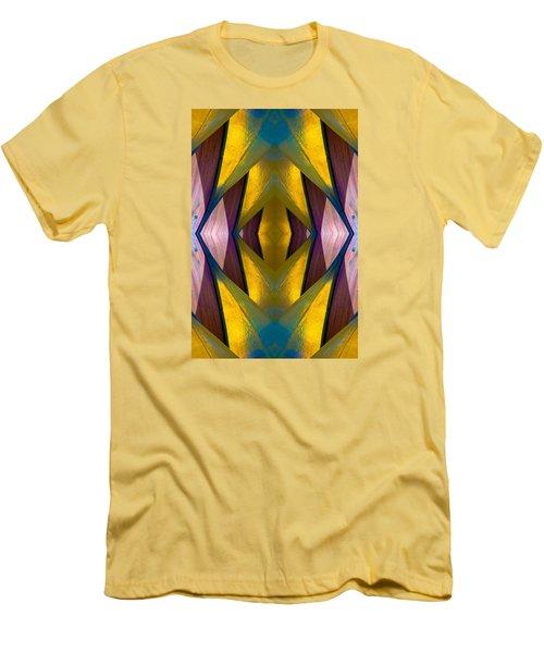 Pure Gold Lincoln Park Wood Pavilion N89 V3 Men's T-Shirt (Slim Fit) by Raymond Kunst