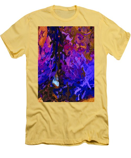 Men's T-Shirt (Athletic Fit) featuring the painting Purple Cave by Joan Reese