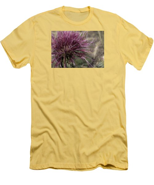 Purple Flower 2 Men's T-Shirt (Athletic Fit)