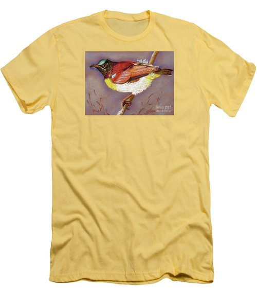 Purple Rumped Sunbird Men's T-Shirt (Athletic Fit)