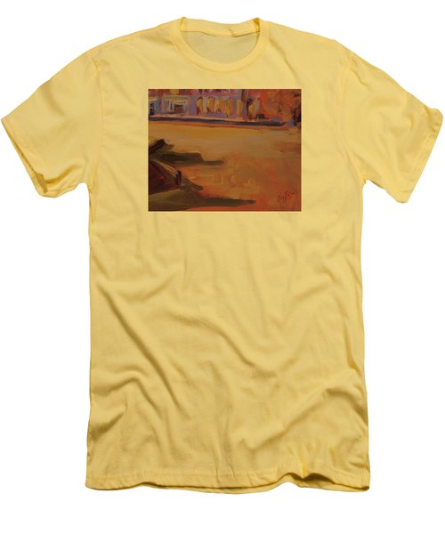 Men's T-Shirt (Slim Fit) featuring the painting Queen Emma Square Detail by Nop Briex