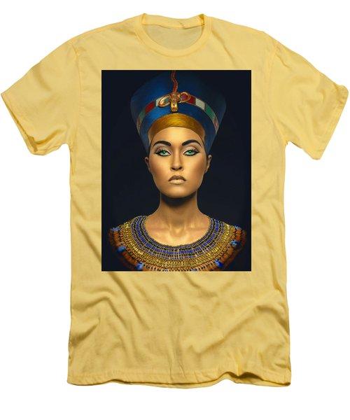 Men's T-Shirt (Slim Fit) featuring the digital art Queen Esther by Karen Showell