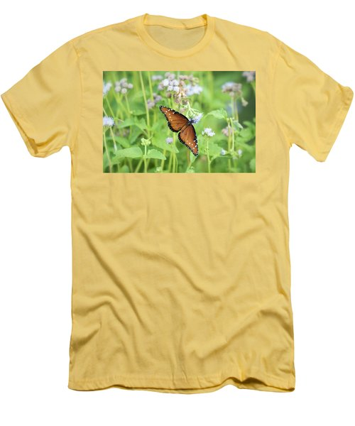Men's T-Shirt (Athletic Fit) featuring the photograph Queen Of The Butterflies by Saija Lehtonen