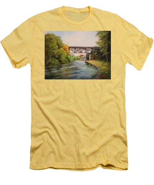 Railroad Bridge Over Erie Canal Men's T-Shirt (Athletic Fit)