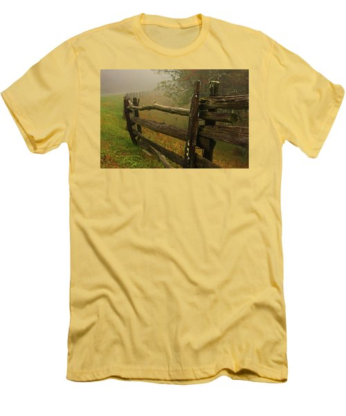 Rails Of Time Men's T-Shirt (Slim Fit) by Dale R Carlson